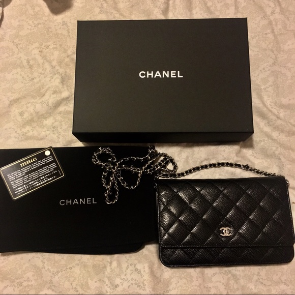 a0cdea1642b9 CHANEL Bags | Woc Authentic Silver Iridescent Black | Poshmark